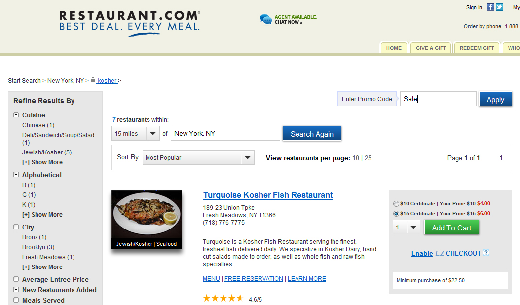 THE KOSHER COUPON LADY » Get a $25 Certificate to Various Kosher ...