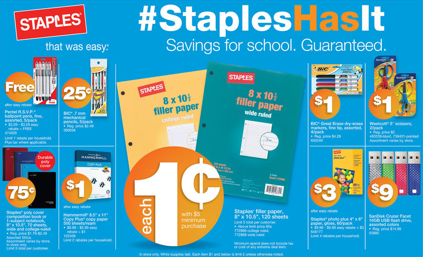 Program applications are available at Staples U.S. stores, online at newcased.ml or by calling Staples must receive accurate and complete information in order to enroll in the Program. Staples is not responsible for applications received by Staples that are not in compliance with these Terms.